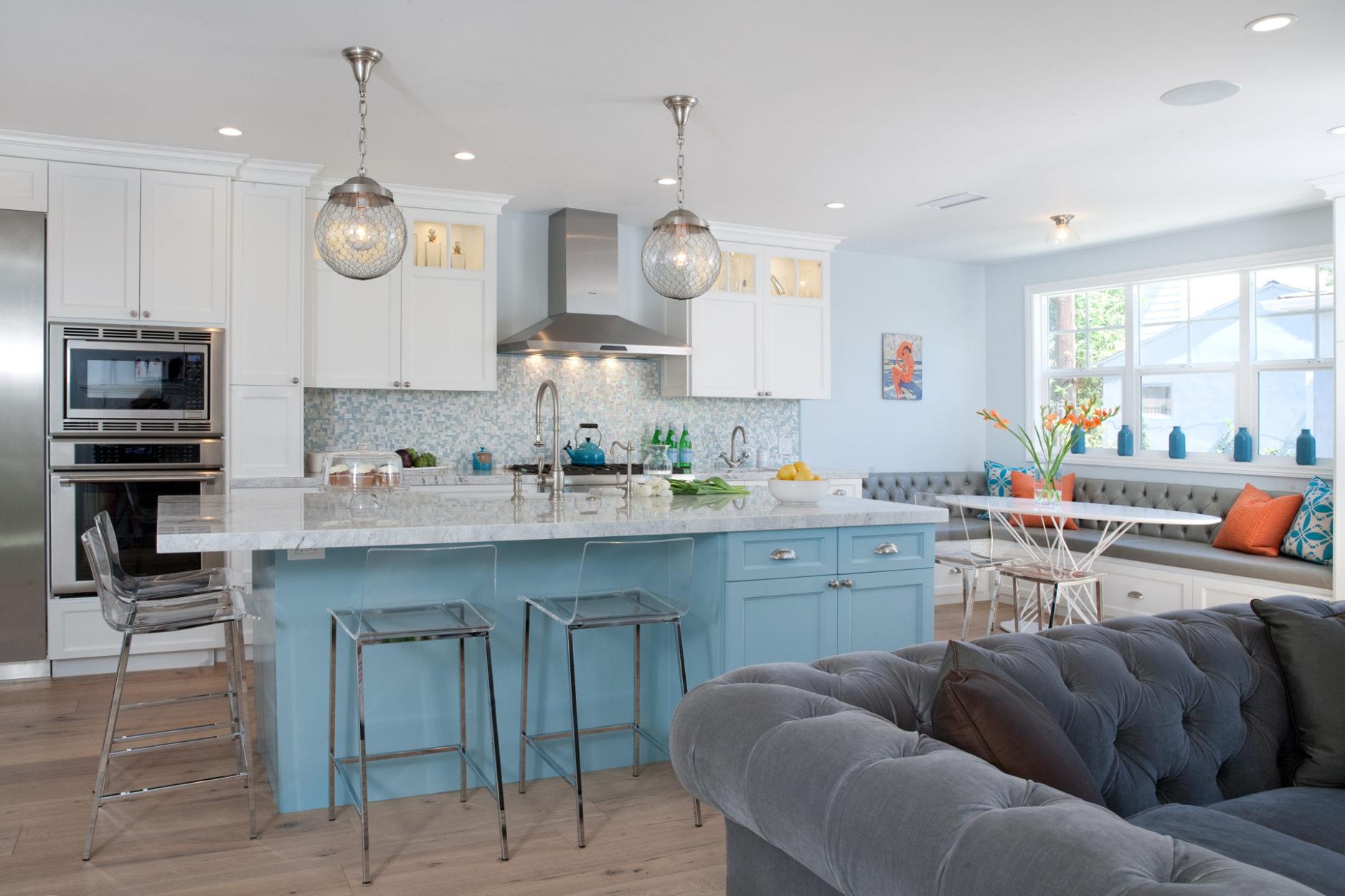 Small Kitchen Grey Cabinets Medallion